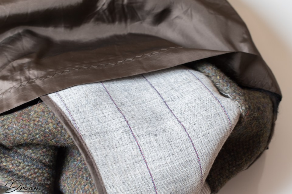 Hair canvas interfacing on my old tailor-made coat offers support to the coat fronts.