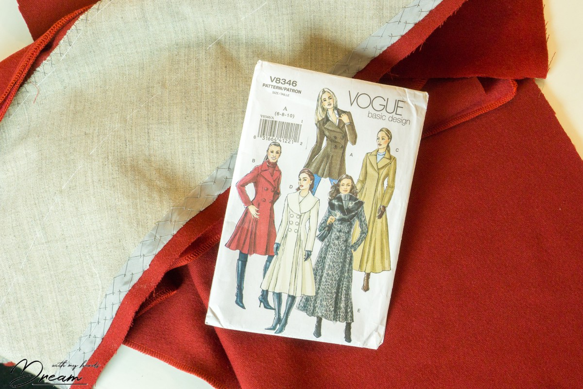 A wool coat for winter, part 3: Cutting and interfacing