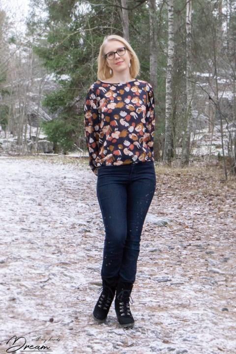 Breaking the pattern: Sade blouse.
