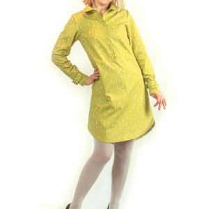 Named Helmi tunic dress made of Spoonflower Cotton Poplin Ultra.