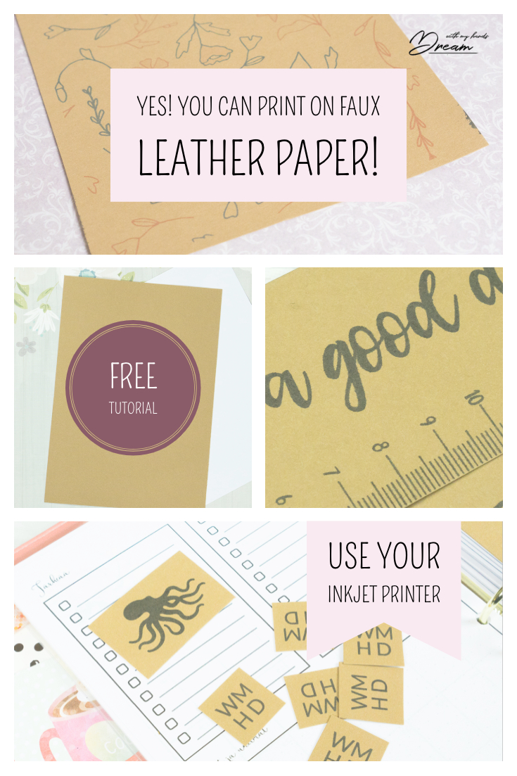 Yes! You can print on faux leather paper with an inkjet printer.
