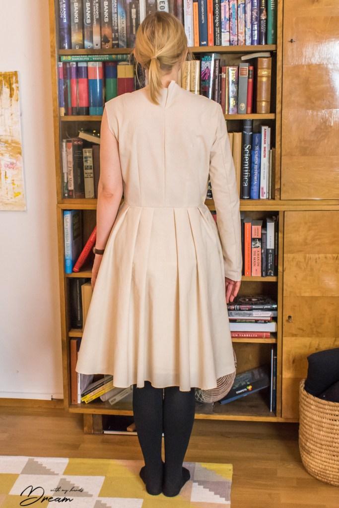 Sewing pattern design: Dress toile, back.