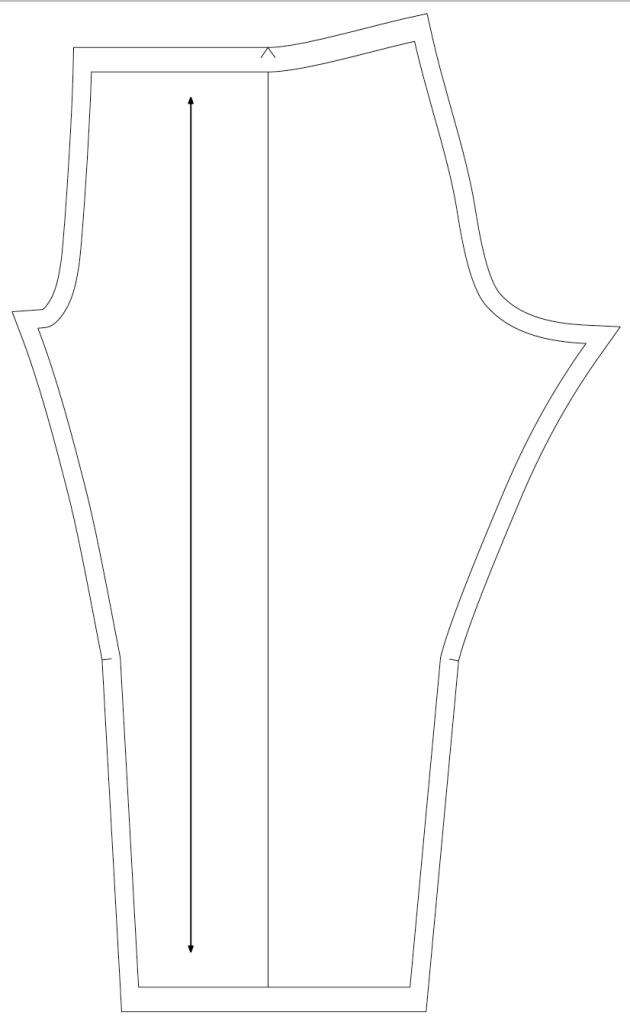 The pattern for the leggings for the sports outfit.