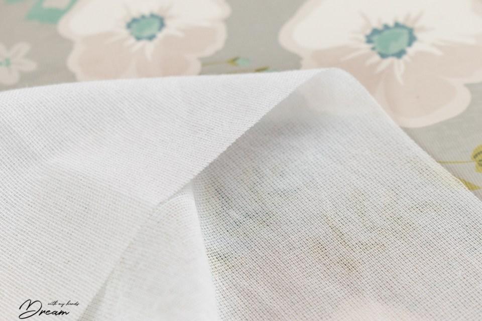 White woven interfacing.