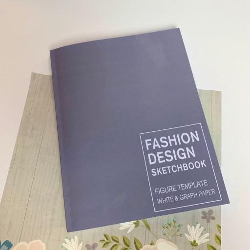 Fashion design sketchbook.