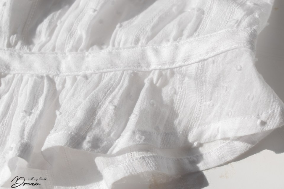 The hem and the waist stay of my WW1-era blouse.