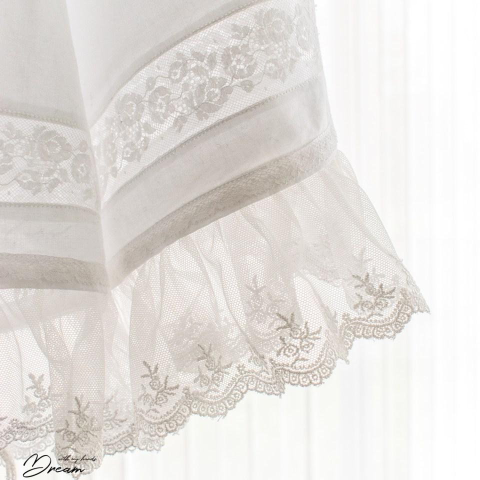 A lace cuff detail.