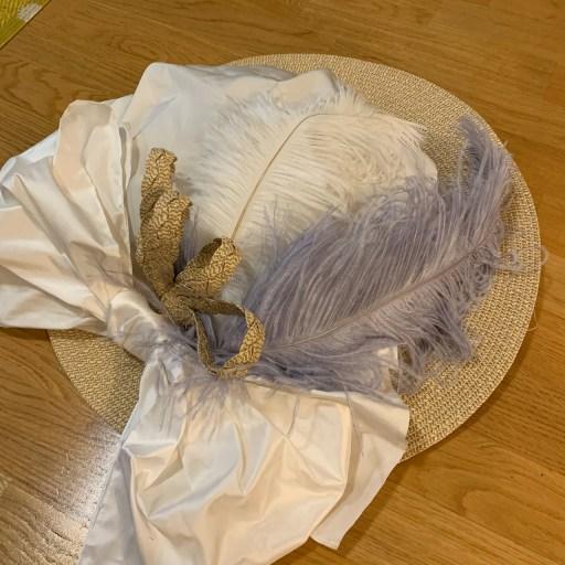The finished Edwardian hat.