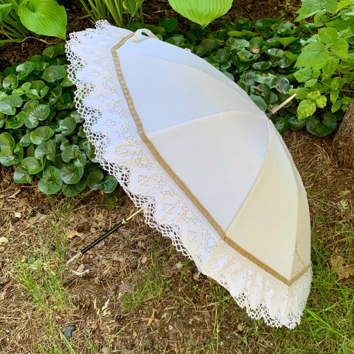 The finished restored parasol.
