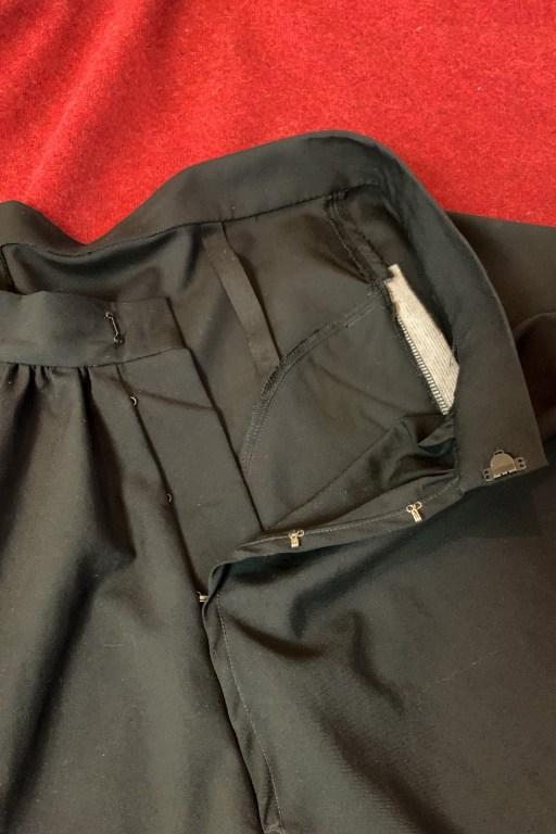The inside of the skirt.