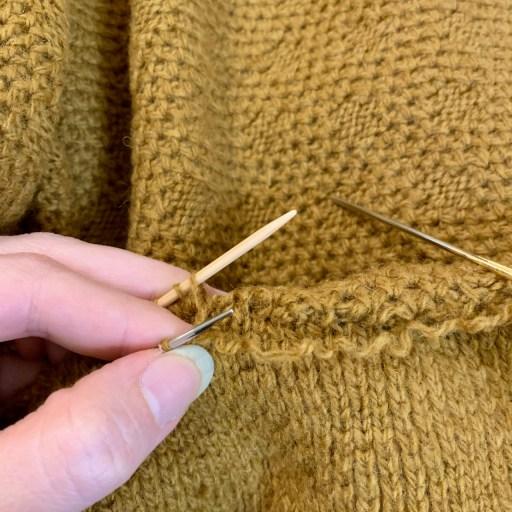Kitchener stitch.