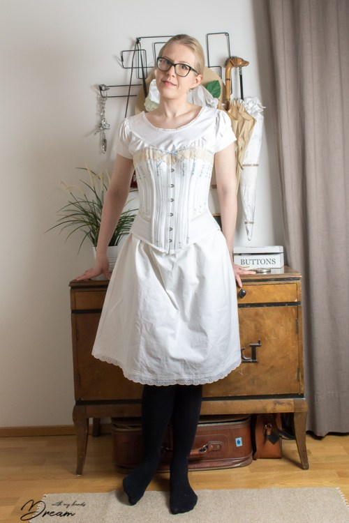 The 1897 Voice of Fashion chemise with my Symington corset