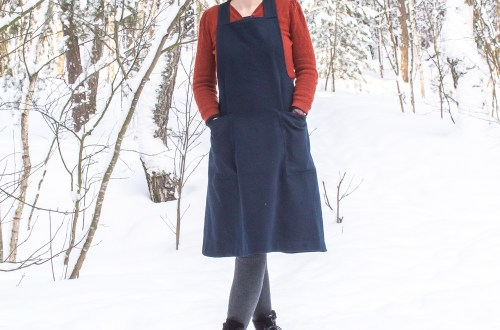 Assembly line apron dress