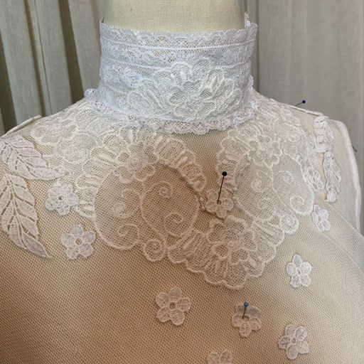 Designing the lace placement.