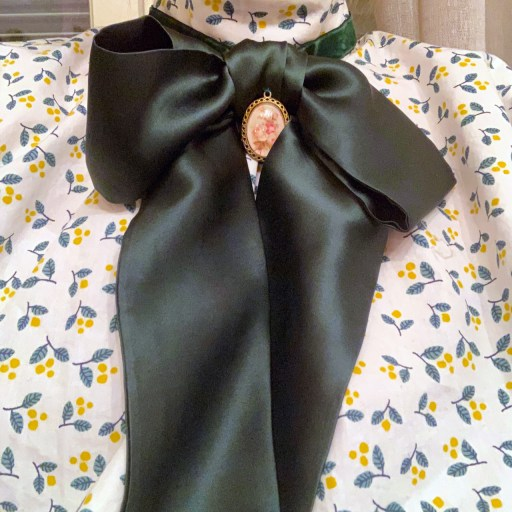 My green silk jabot.