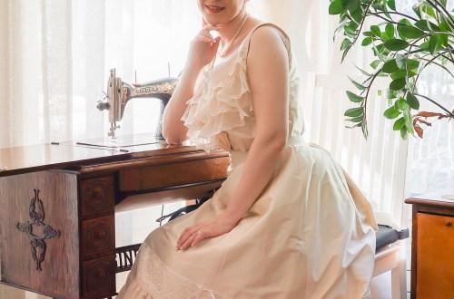 Edwardian silk corset cover.