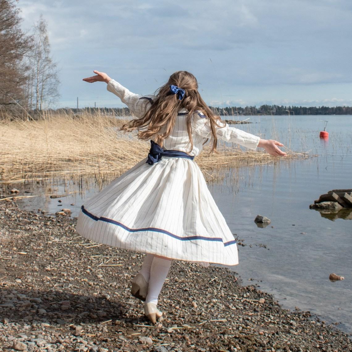 An Edwardian sailor dress