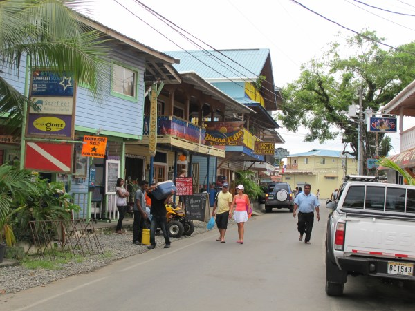 Hotels and hostels galore in Bocas del Toro.