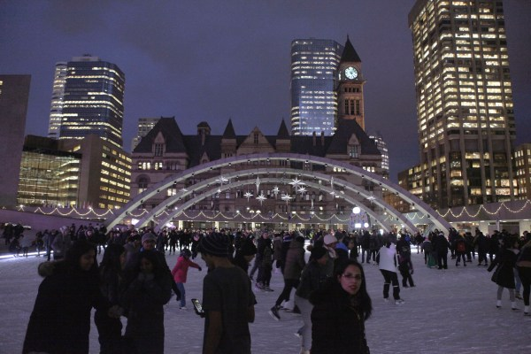 Skaters take over Nathan Phillips Square