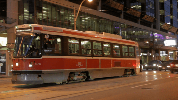 There's a streetcar around every corner in downtown Toronto.
