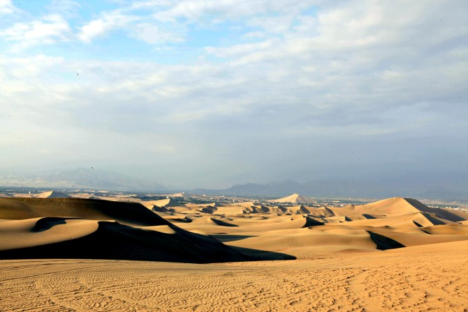 The seemingly endless sand dunes of Huacachina.