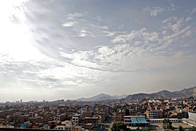 A skyline view of an older slice of Lima.
