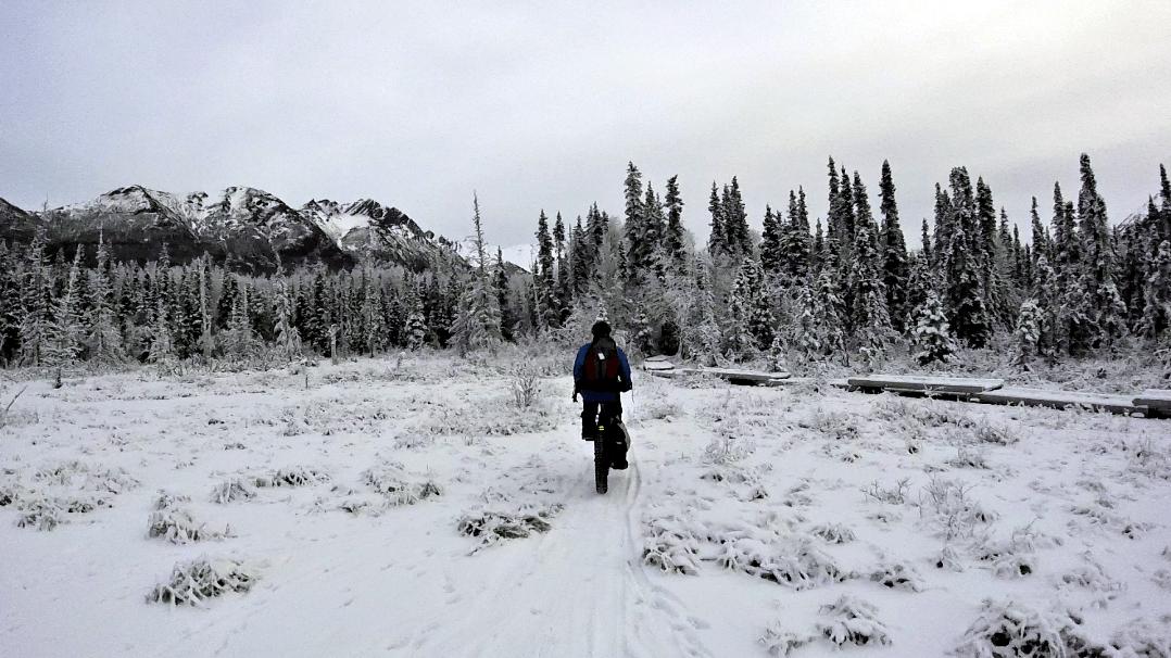 Fat tire cycling in Alaska