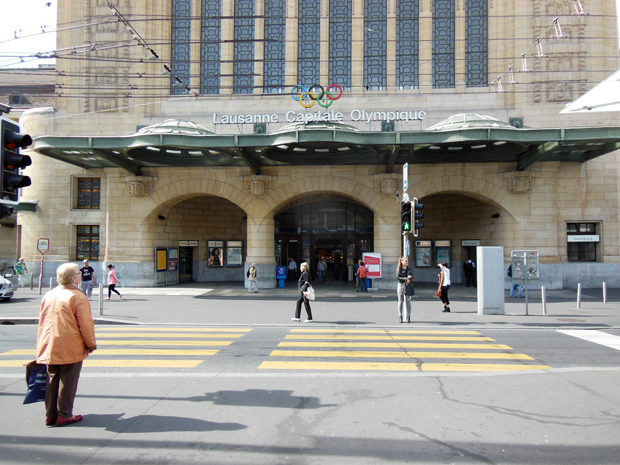 Lausanne Train Station in Switzerland