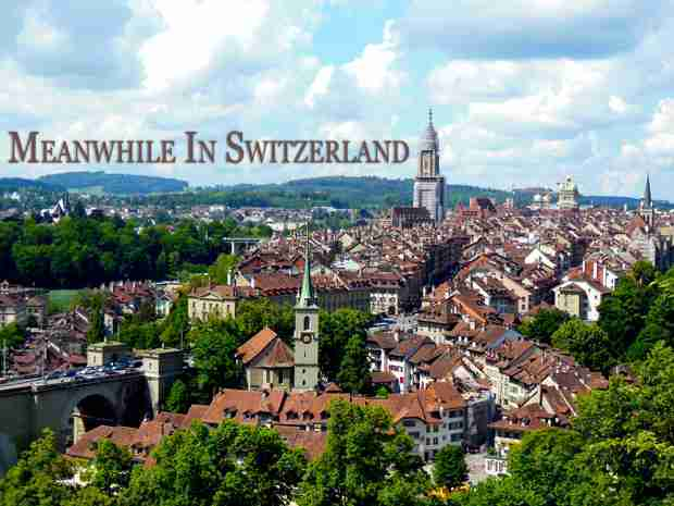 Aerial View of Bern, Switzerland