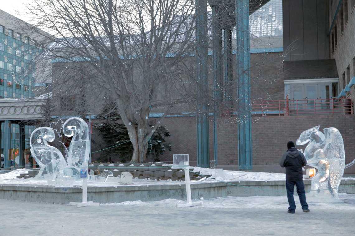 Anchorage, Alaska Town Square Park Ice Sculptures