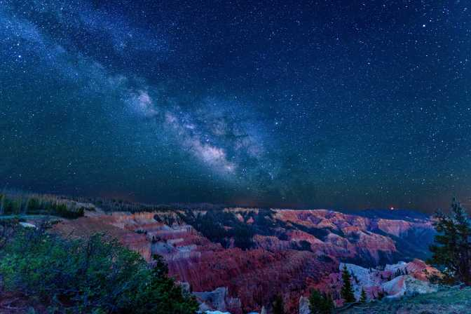 Cedar Breaks National Monument and the Milky Way