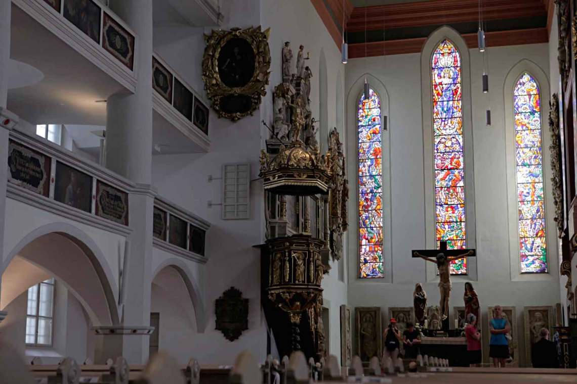 Inside Martin Luther's Georgenkirche of Eisenach, Germany