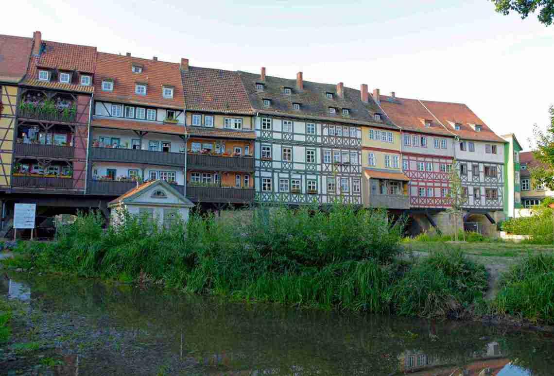 Merchants' Bridge in Erfurt, Germany