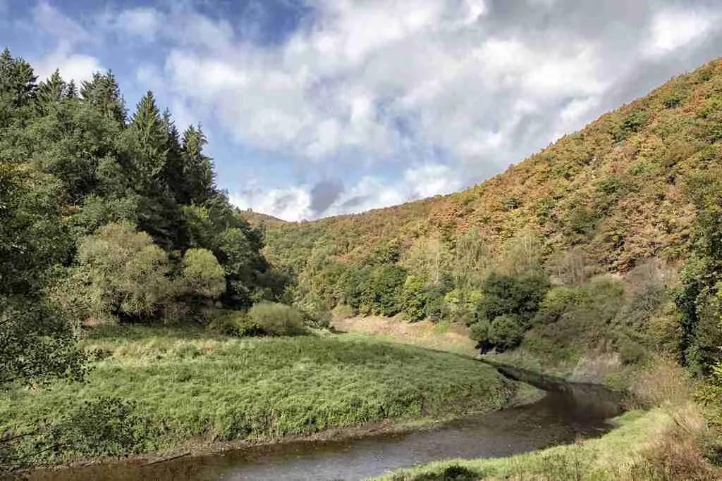 Urft River Bike Trail in Eifel National Park, Germany