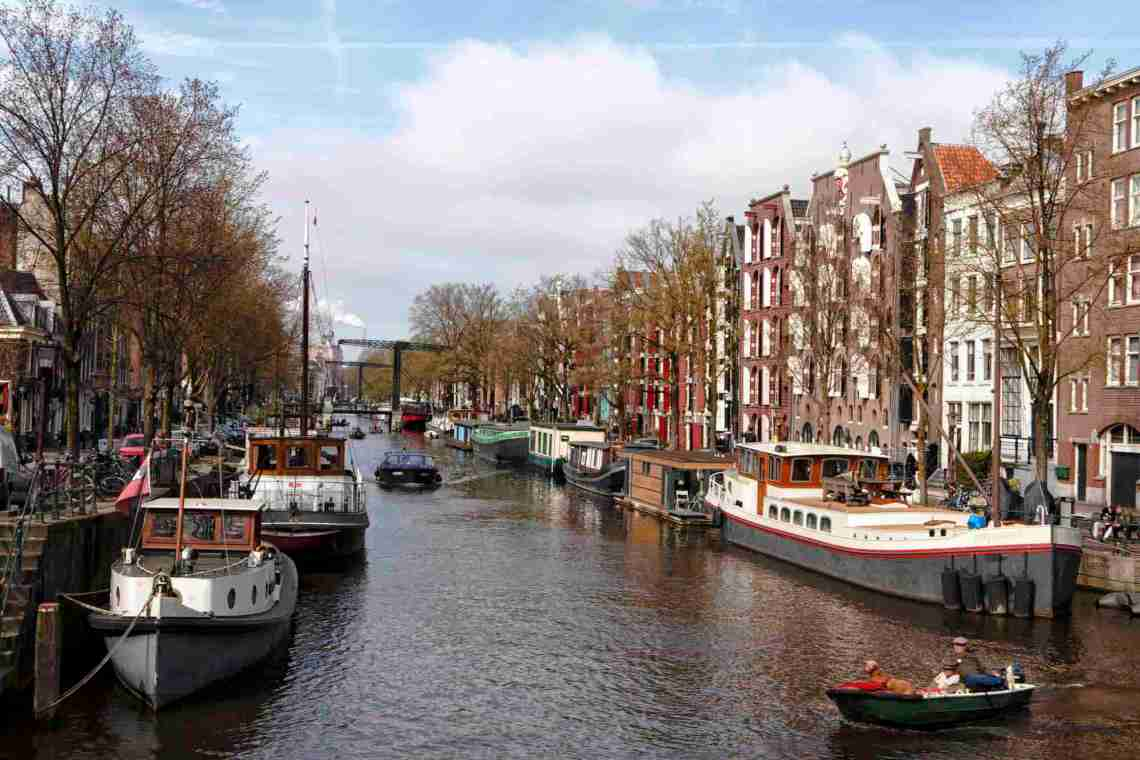 Canal View in Amsterdam, Netherlands