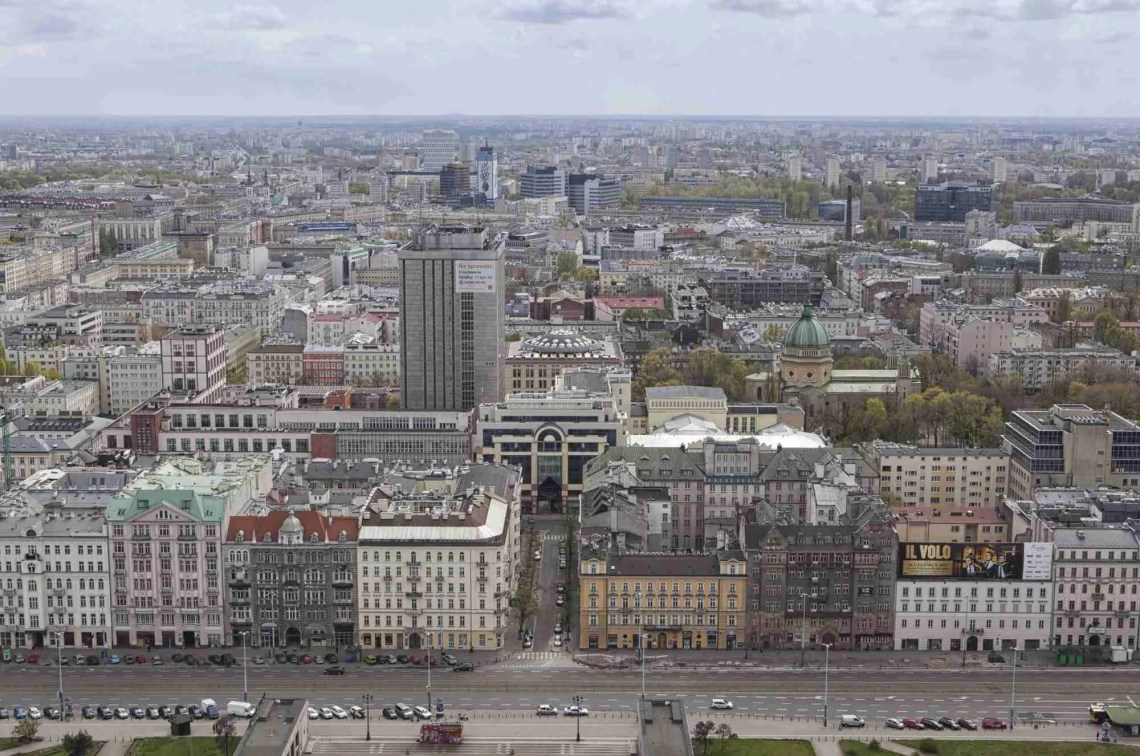 Warsaw Aerial from the Palace of Culture
