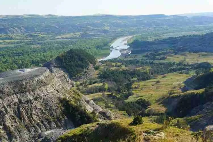 Oxbow Overlook Landscape at Theodore Roosevelt National Park North Unit