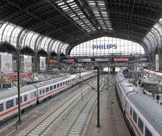 Inside Hamburg German Train Station