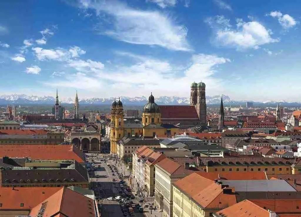 Munich City and Alps