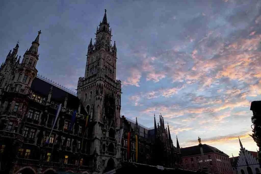 Munich Marienplatz Sunrise
