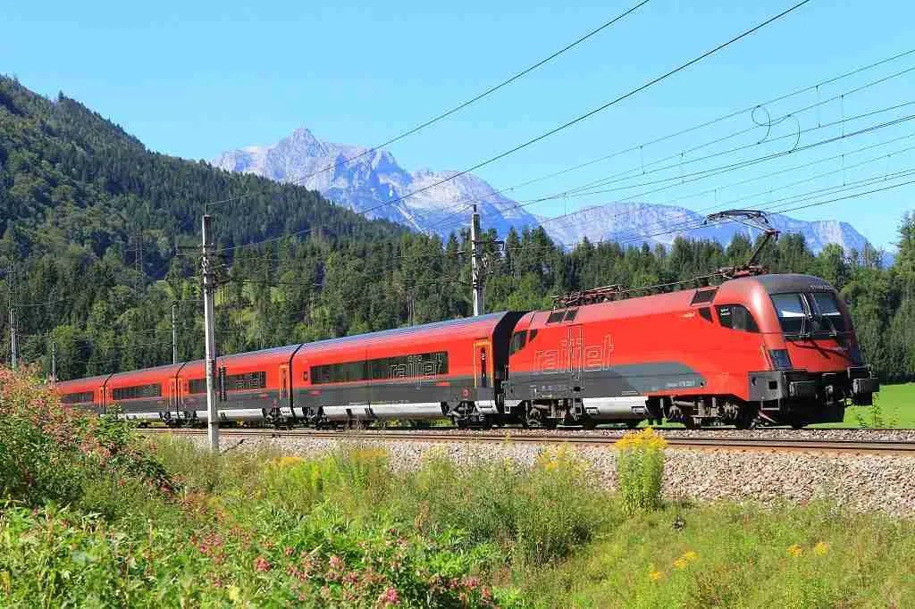 OBB Railjet Train Alps