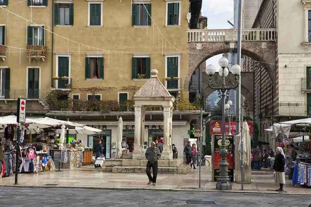 Market in Verona Italy