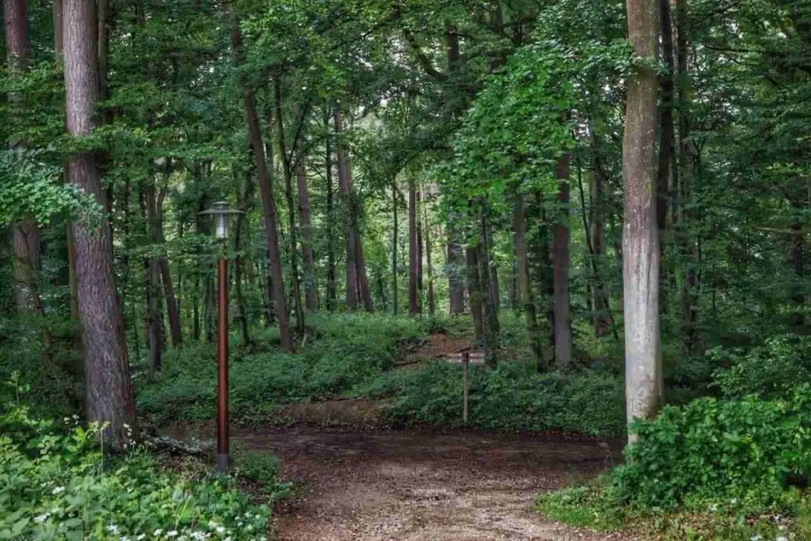 Trailhead in Mullerthal Luxembourg