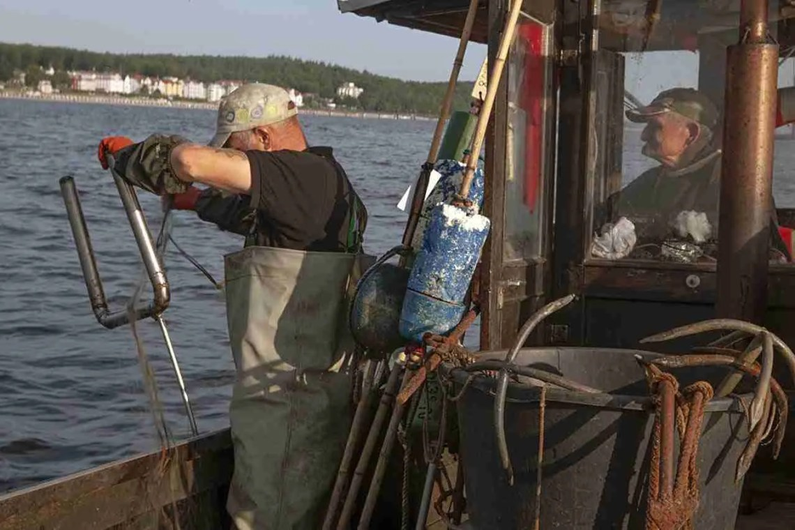 Men Fishing in Usedom