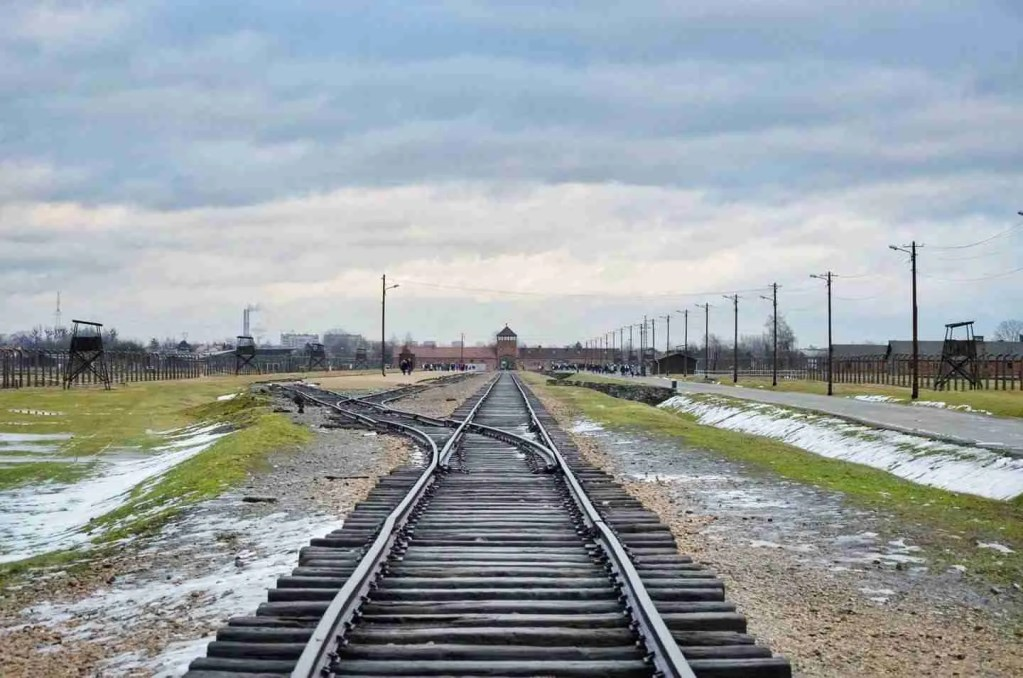 Visit Auschwitz train tracks