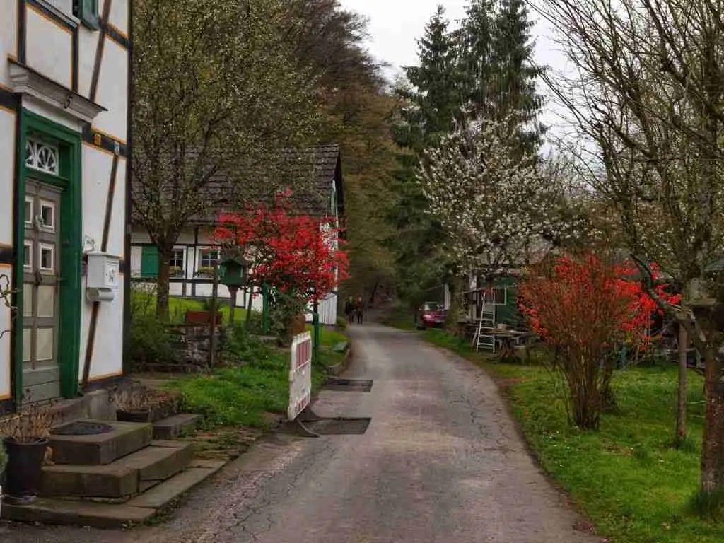 Road to the Muhlenmuseum in Bergisches Land