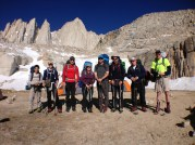 Day 4 - Team at high camp, ready to descend back to trail head.