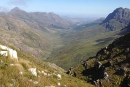 Jonkershoek - View Down the Valley