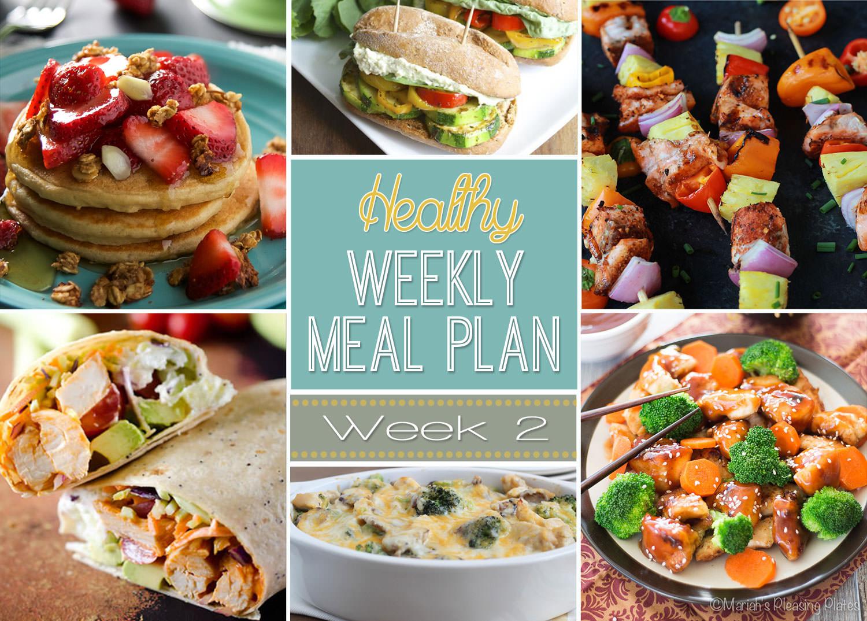 Healthy Meal Plan Week 2