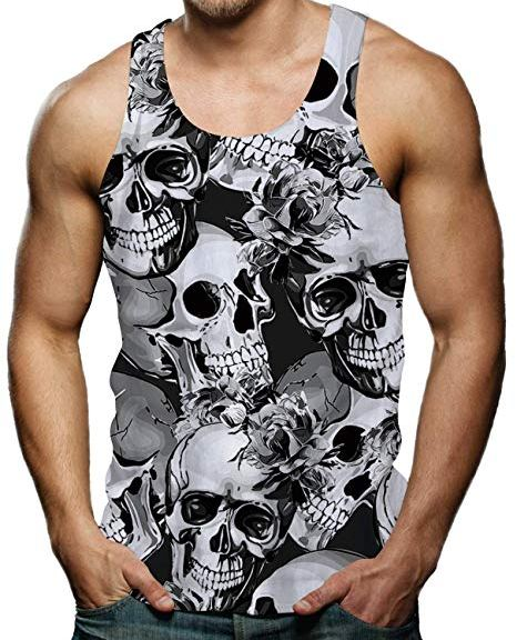 t-shirt with skulls for the beach